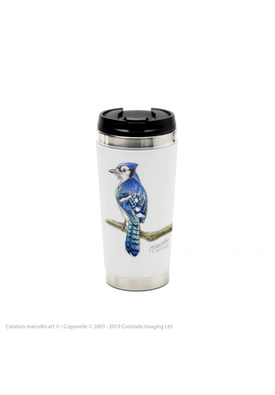 Marcello-art: Decoration accessoiries Thermos mug 393 blue jay
