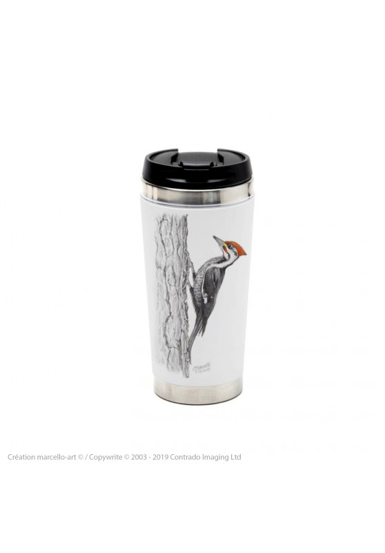 Marcello-art: Decoration accessoiries Thermos mug 393 black woodpecker