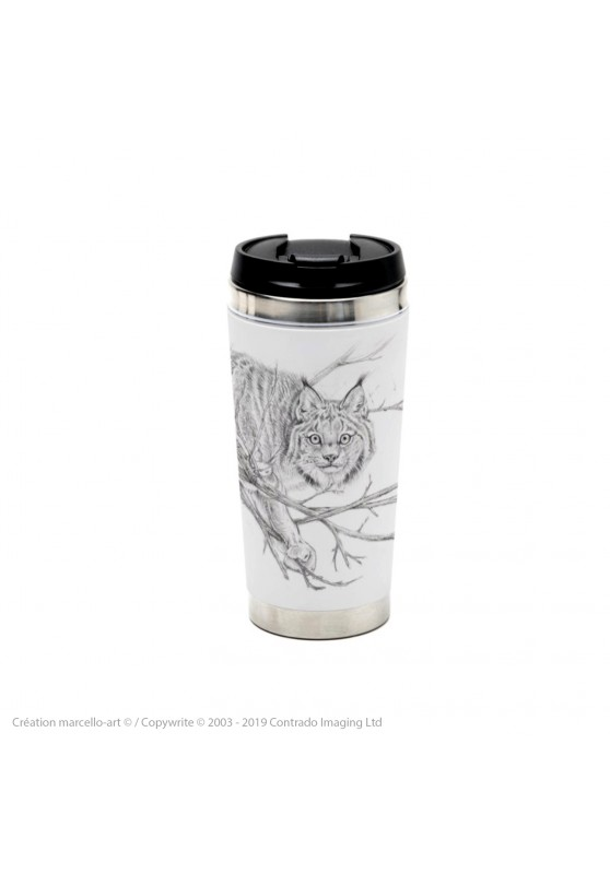 Marcello-art: Decoration accessoiries Thermos mug 393 lynx