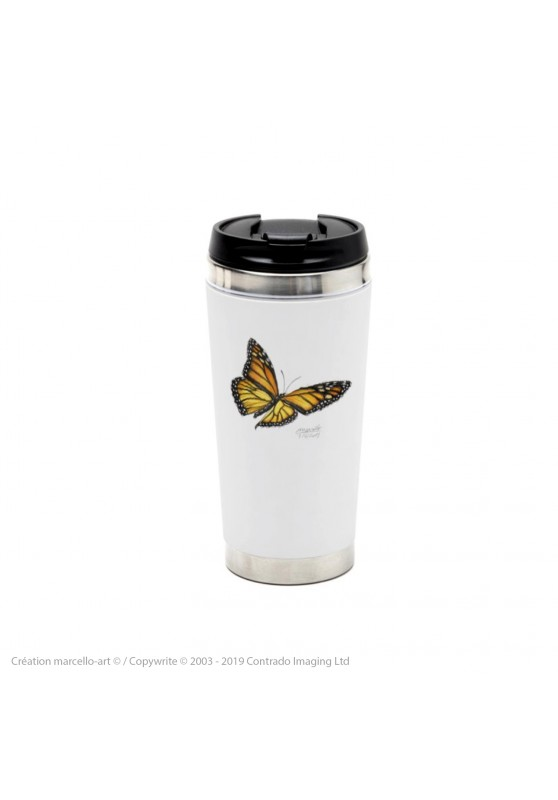 Marcello-art: Decoration accessoiries Thermos mug 393 monarch butterfly
