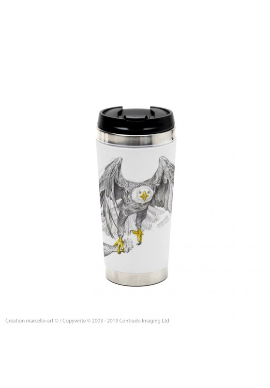 Marcello-art: Decoration accessoiries Thermos mug 393 bald eagle