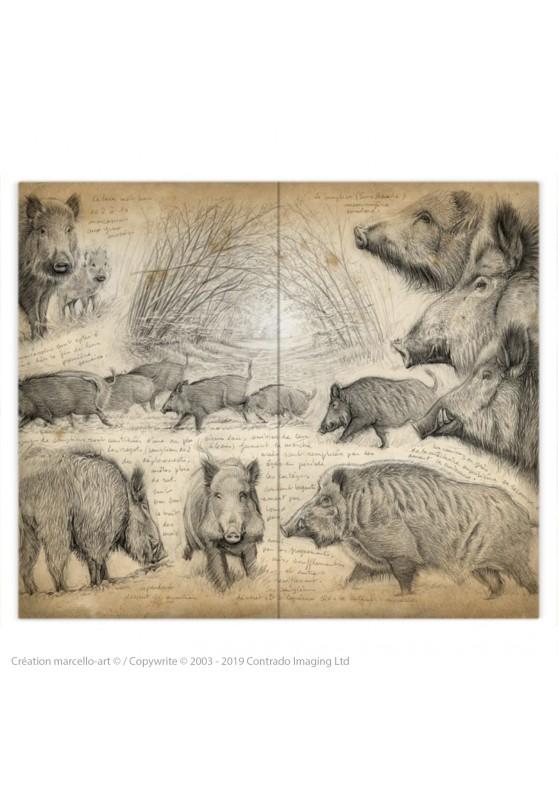 Marcello-art: Fashion accessory Duvet cover 272 boar