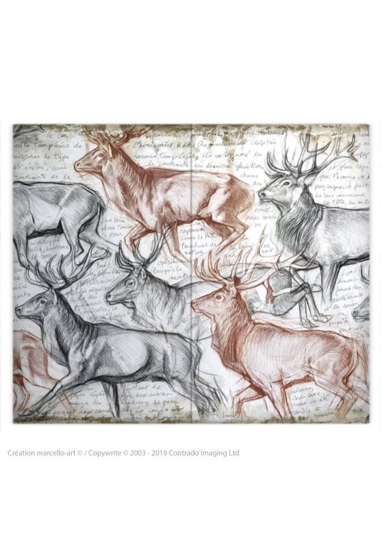 Marcello-art: Fashion accessory Duvet cover 297 The last herd