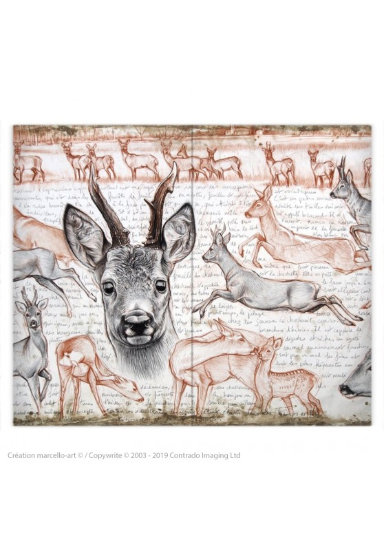 Marcello-art: Fashion accessory Duvet cover 280 roe deer