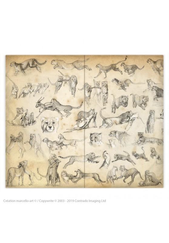 Marcello-art : Accessoires de mode Housse de couette 320 Cheetah For Ever