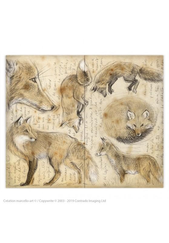 Marcello-art: Fashion accessory Duvet cover 336 red fox