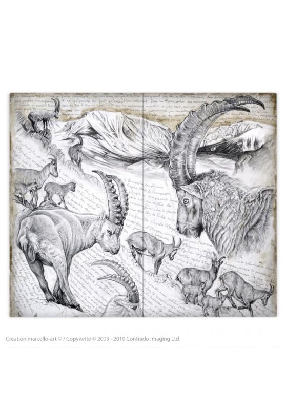 Marcello-art: Fashion accessory Duvet cover 348 Alpine Ibex