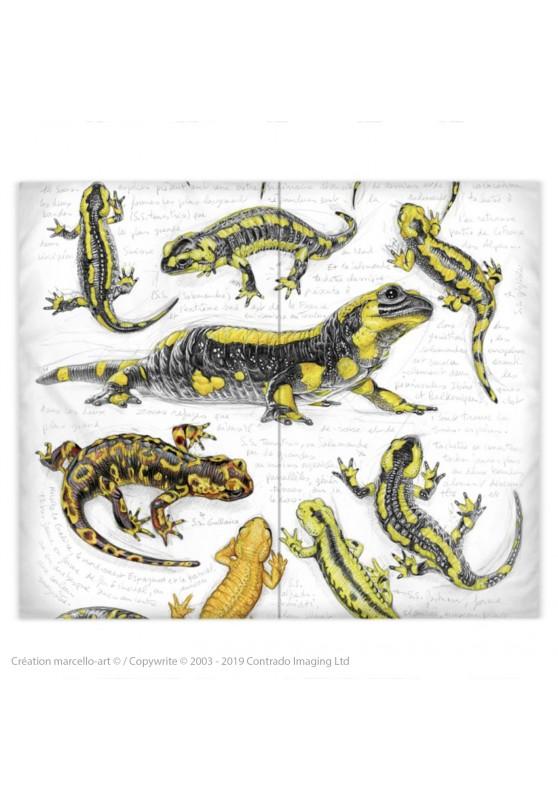 Marcello-art : Accessoires de mode Housse de couette 383 salamandres