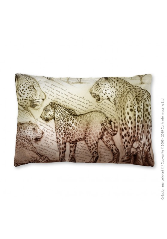 Marcello-art: Fashion accessory Pillowcase 252 A leopard sunset