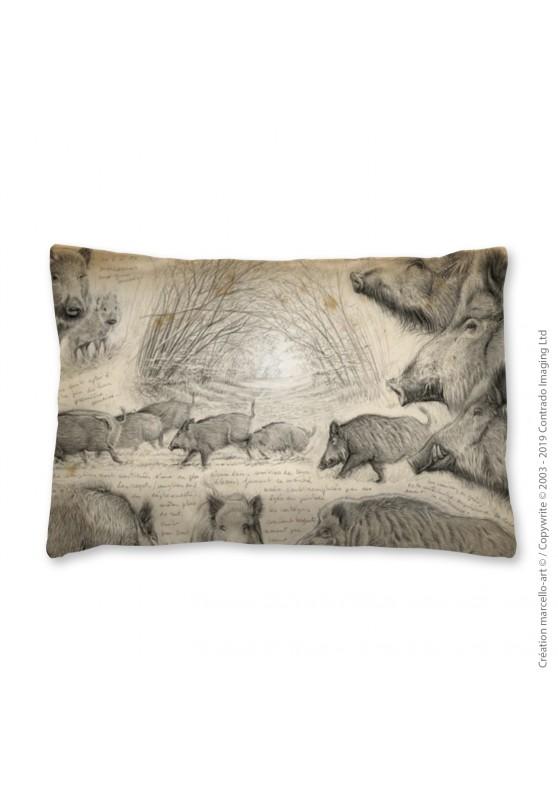 Marcello-art: Fashion accessory Pillowcase 272 A boar