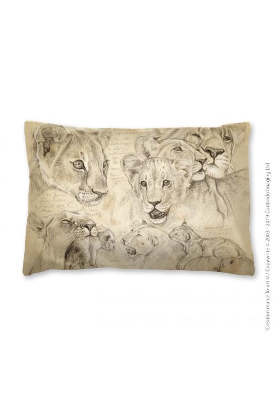 Marcello-art: Fashion accessory Pillowcase 303 A lion cubs