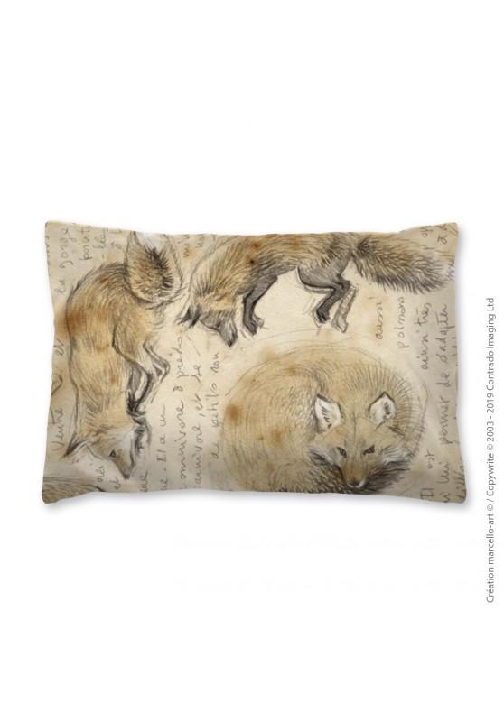 Marcello-art: Fashion accessory Pillowcase 336 A red fox