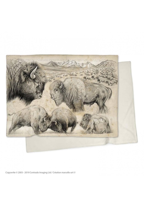Marcello-art : Plaid Plaid 390 bison
