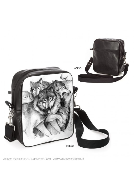 Marcello-art: Fashion accessory Bag 25 wolf