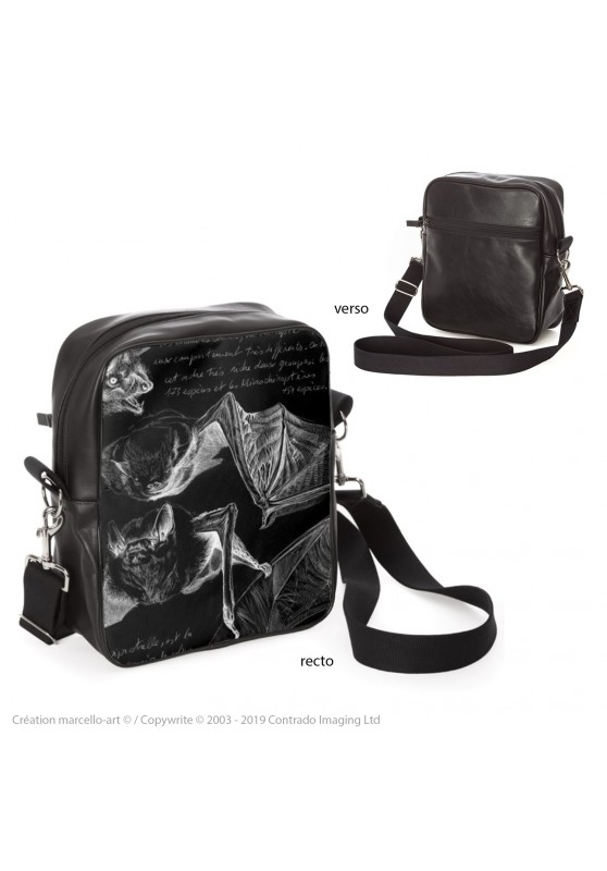 Marcello-art: Fashion accessory Bag 31 pipistrelle black