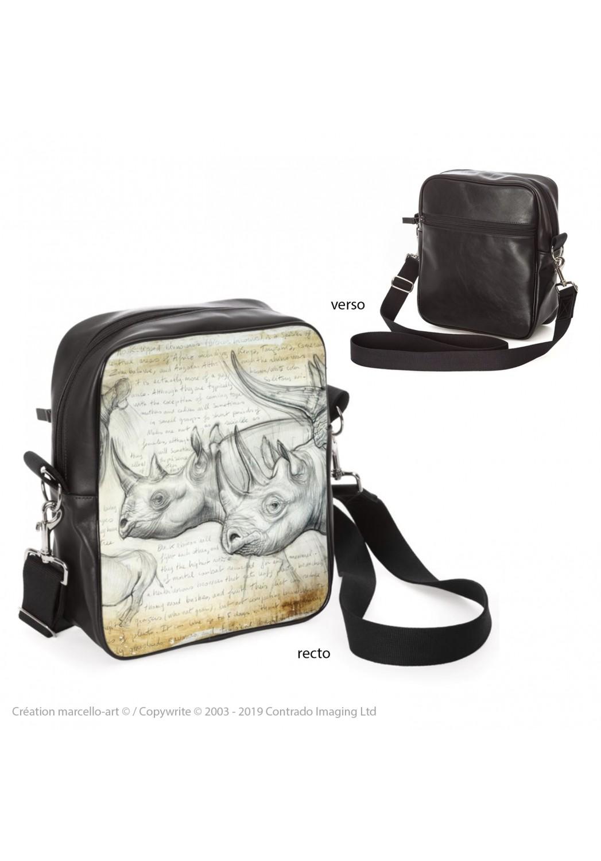 Marcello-art : Accessoires de mode Sacoche 176 rhino noir