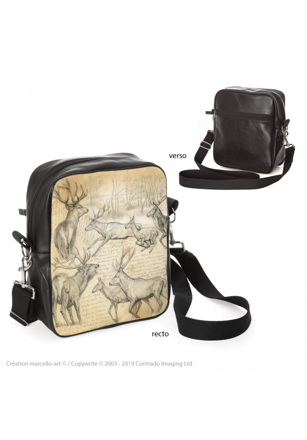 Marcello-art: Fashion accessory Bag 271 red deer