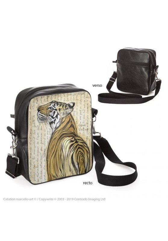 Marcello-art : Accessoires de mode Sacoche 298 tigre du Bengale
