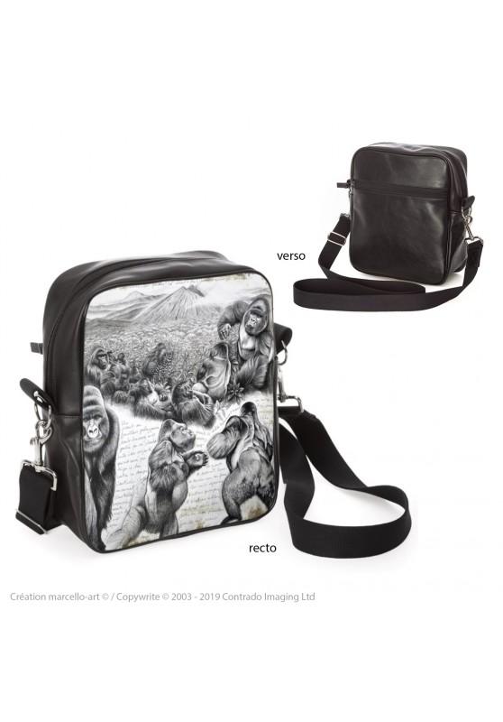 Marcello-art : Accessoires de mode Sacoche 301 gorilles Virunga