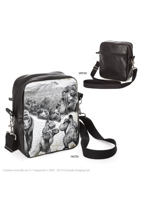 Marcello-art: Fashion accessory Bag 301 Virunga gorilla
