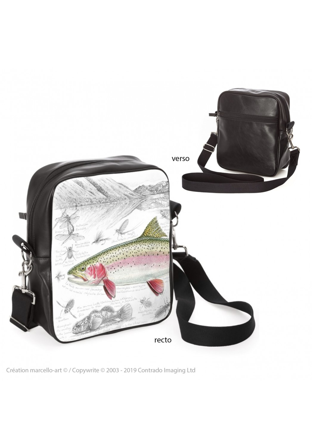 Marcello-art: Fashion accessory Bag 373 rainbow trout