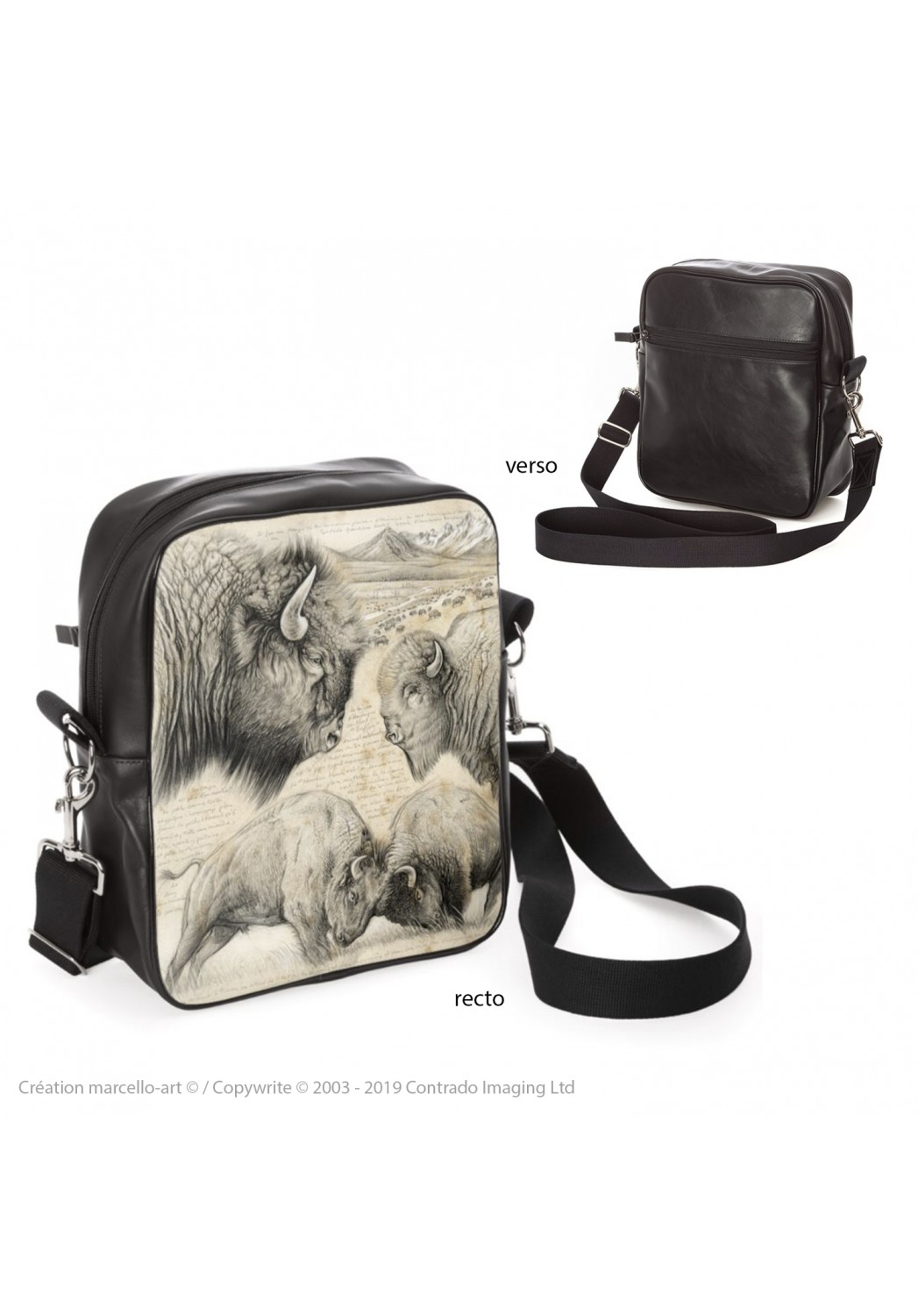 Marcello-art: Fashion accessory Bag 390 American buffalo