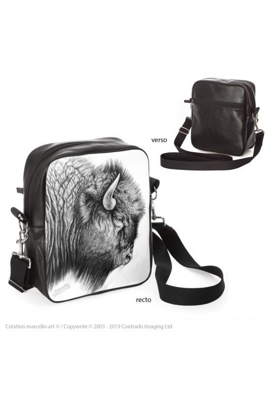 Marcello-art : Accessoires de mode Sacoche 390 tête bison