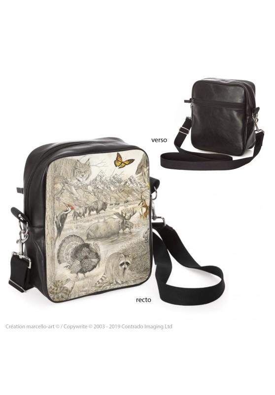 Marcello-art : Accessoires de mode Sacoche 393 faune Américaine