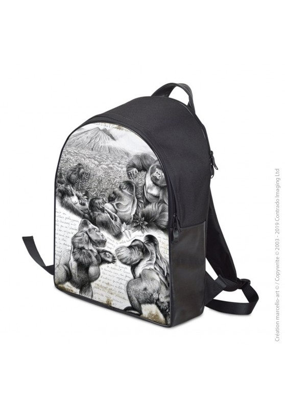 Marcello-art : Accessoires de mode Sac à dos 301 gorilles Virunga