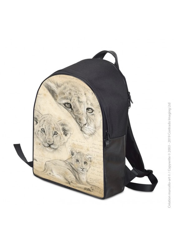 Marcello-art: Fashion accessory Backpack 330 lion cubs