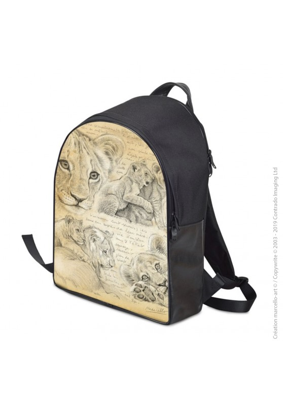 Marcello-art: Fashion accessory Backpack 331 lion cubs