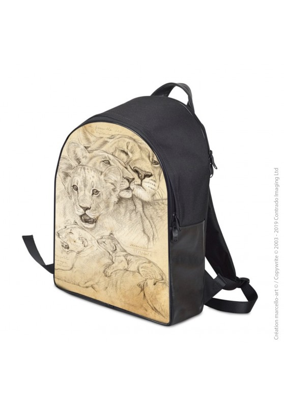 Marcello-art: Fashion accessory Backpack 335 lion cubs