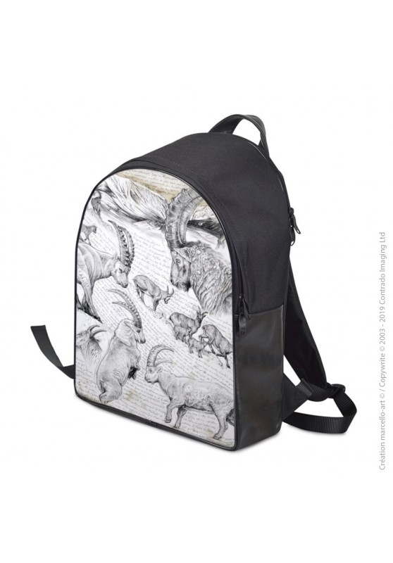 Marcello-art: Fashion accessory Backpack 348 Alpine Ibex