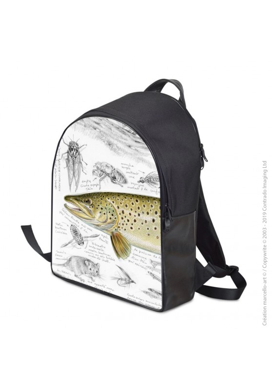 Marcello-art: Fashion accessory Backpack 372 brown trout