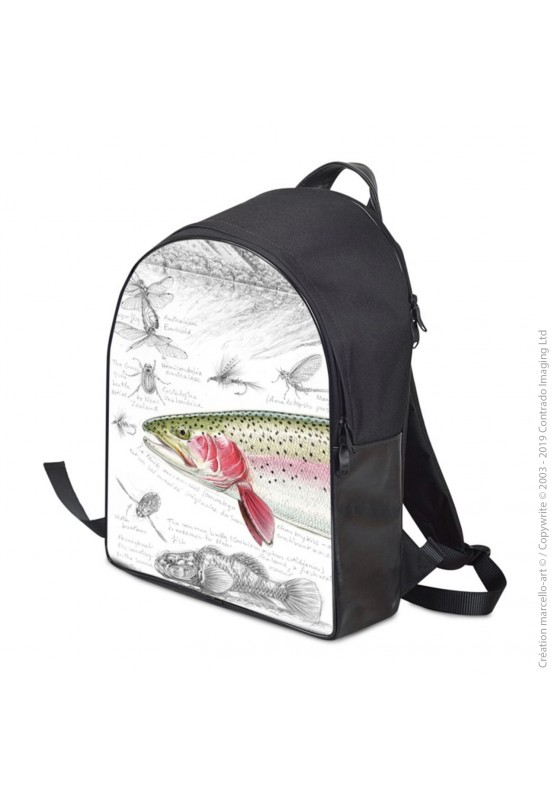 Marcello-art: Fashion accessory Backpack 373 rainbow trout