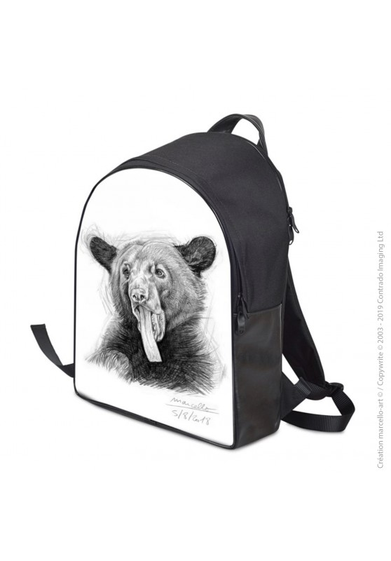 Marcello-art: Fashion accessory Backpack 382 black bear tongue