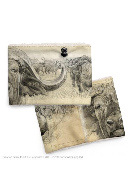 Marcello-art : Snood Snood 274 buffle gravure Blaser
