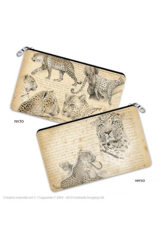 Marcello-art : Accessoires de décoration Trousse à crayons 180 léopard