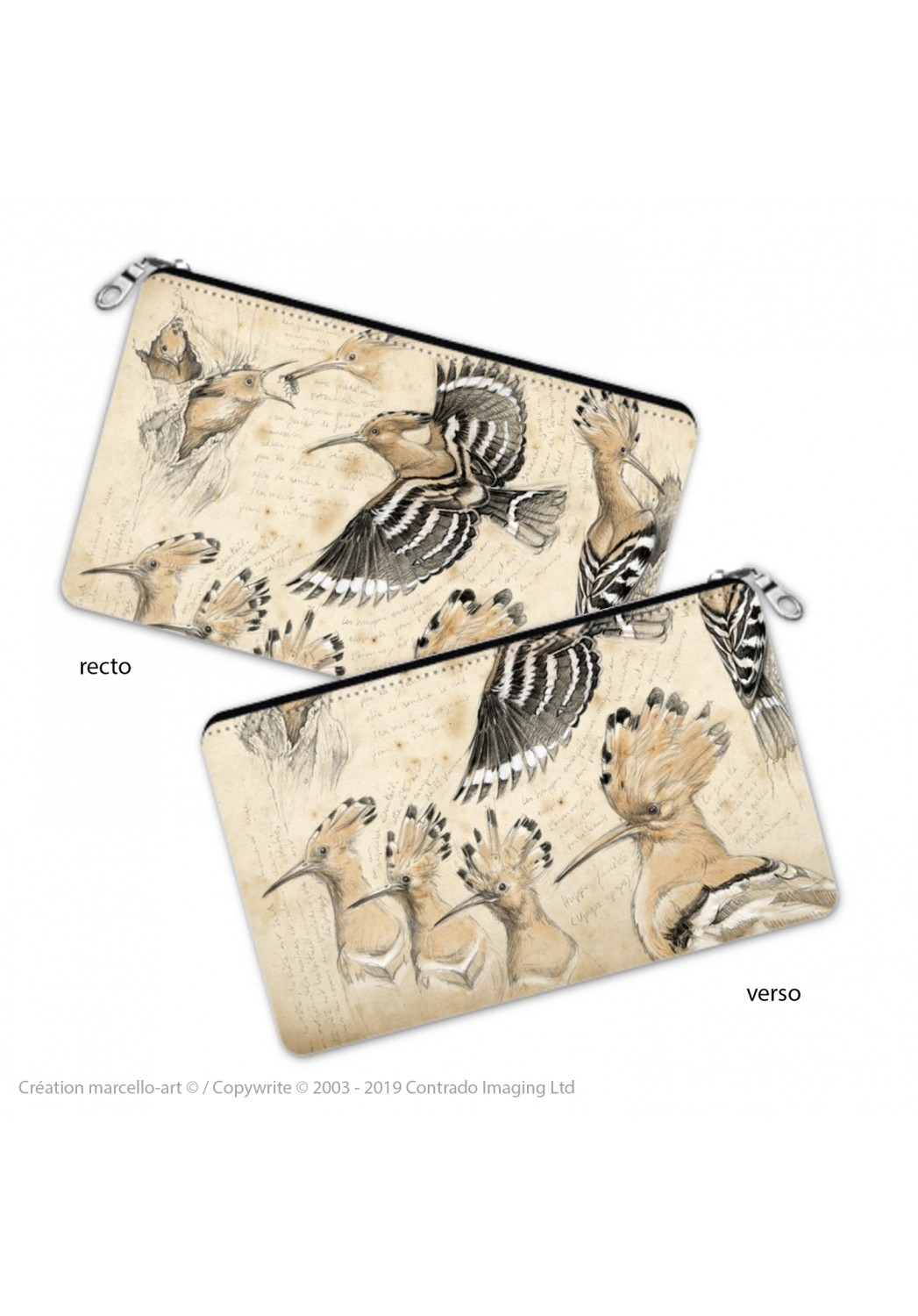 Marcello-art: Decoration accessoiries Pencil case 182 hoopoe