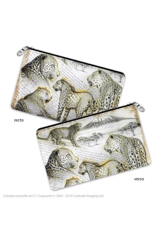 Marcello-art : Accessoires de décoration Trousse à crayons 252 léopard
