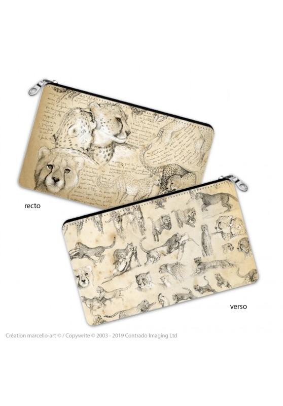 Marcello-art : Accessoires de décoration Trousse à crayons 320 Cheetah For Ever