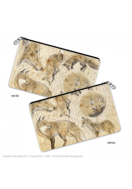 Marcello-art: Decoration accessoiries Pencil case 336 red fox