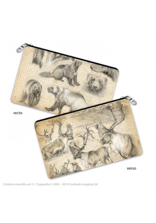 Marcello-art : Accessoires de décoration Trousse à crayons 190-257 glouton et caribou