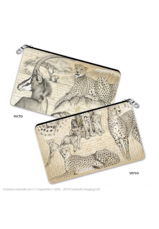 Marcello-art : Accessoires de décoration Trousse à crayons 338-363 guépard