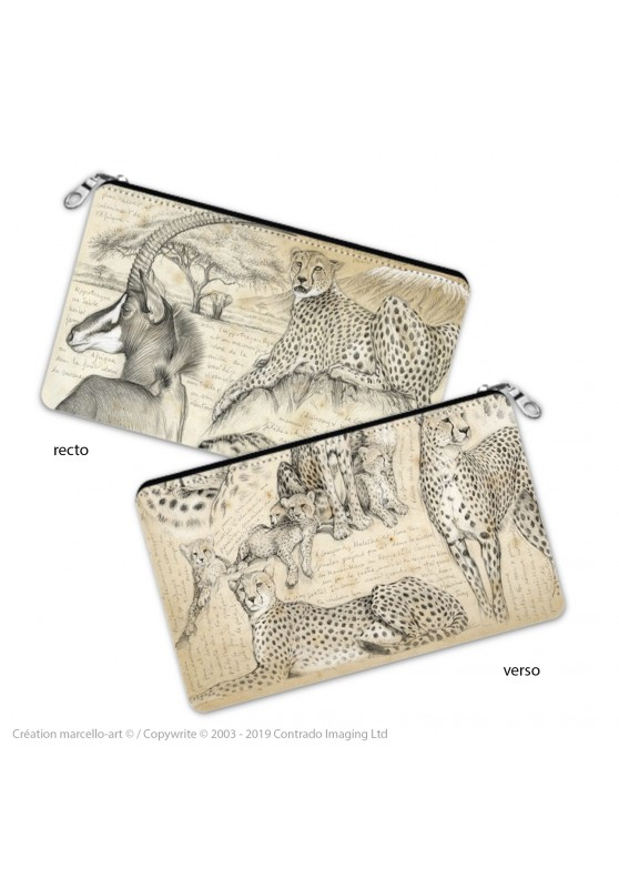 Marcello-art: Decoration accessoiries Pencil case 338-363 cheetah