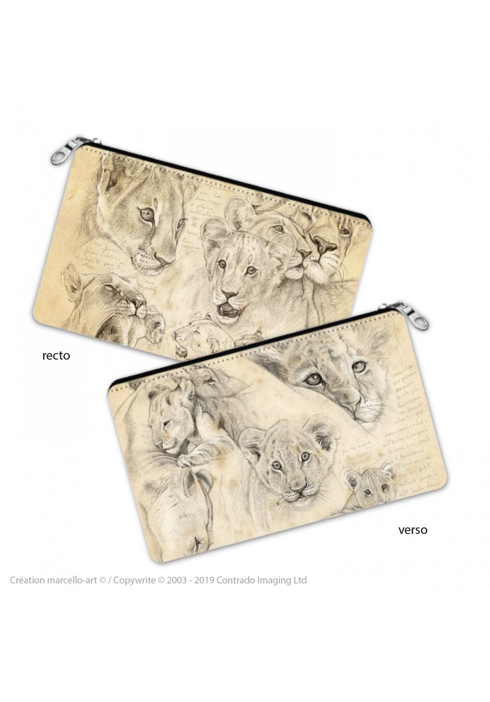 Marcello-art : Accessoires de décoration Trousse à crayons 330-335 lionceaux