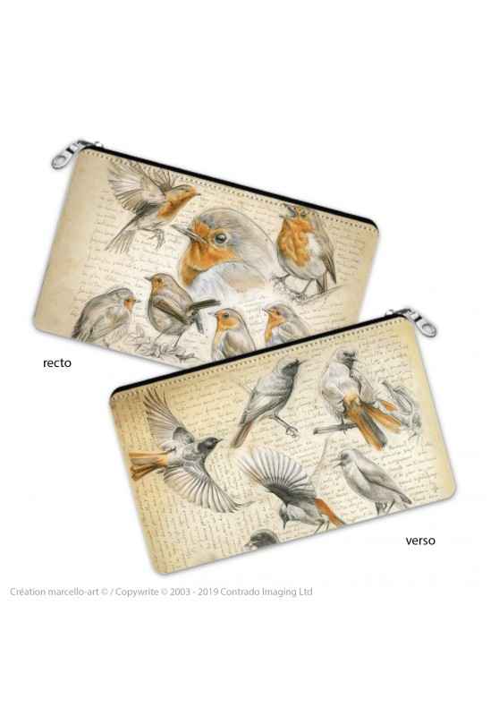 Marcello-art: Decoration accessoiries Pencil case 281-282 robin & redstart