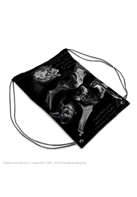 Marcello-art : Accessoires de mode Sac de sport 31 pipistrelles noires