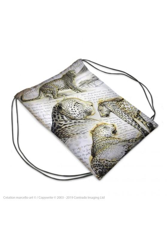 Marcello-art : Accessoires de mode Sac de sport 252 léopard