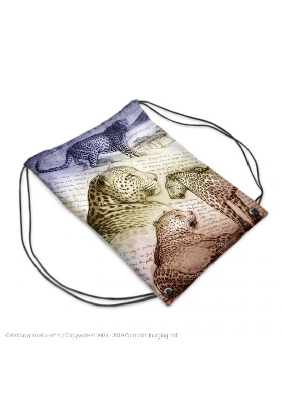Marcello-art : Accessoires de mode Sac de sport 252 léopard sunset